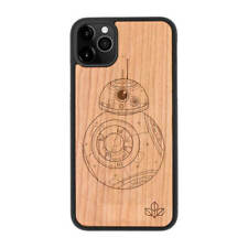 Star Wars BB8 Natural Carved Wooden Phone Case for IPHONE SAMSUNG HUAWEI PIXEL