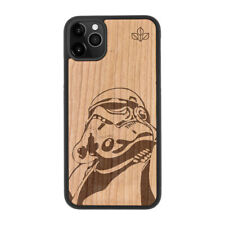 Storm Trooper Natural Carved Wooden Phone Case for IPHONE SAMSUNG HUAWEI PIXEL