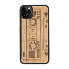 Retro Casette Natural Carved Wooden Phone Case for IPHONE SAMSUNG HUAWEI PIXEL