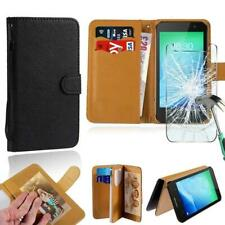 Leather Wallet Case+Tempered Glass Screen Protector For TP-LINK Neffos Phones