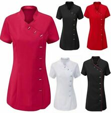 Womens Massage Therapist Uniform Top Womens Beauty Salon Work Wear Tunic Shirt