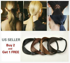 2Pcs Womens Straight Wig Elastic Hair Band Rope Scrunchie Ponytail Holder