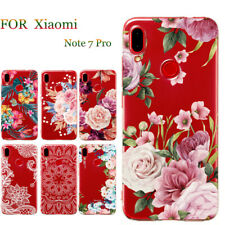 Slim Soft Clear Floral Painted TPU Case Cover For Xiaomi Redmi Note 7 A2 Lite