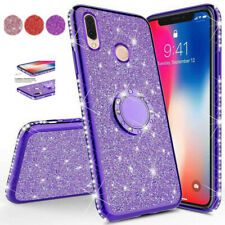 Bling Diamond Ring Stand Soft Cover Case For Xiaomi Redmi 6A Note 6 Mi A2 Lite