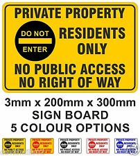 Access for residents only sign 5586WBK Parking restriction signs and notices