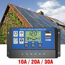 10/20/30A Solar Panel Regulator Battery Charger Controller 12/24V With LCD USB