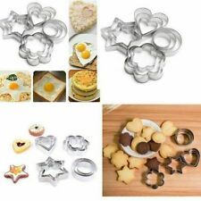Cake Omelette Round/Heart/Flower/Star Shape Cookie Cutter Biscuit Mold Stamp _UK