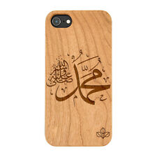 Islam Peace Symbol Natural Real Wooden Phone Case IPHONE SAMSUNG HUAWEI PIXEL