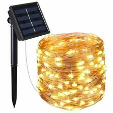 100 200 LEDs Solar String Lights Fairy Light Copper Wire Waterproof Outdoor