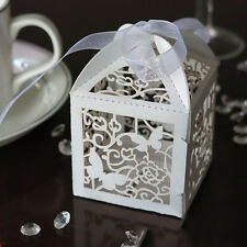 10/50/100pcs Wedding Party Favor Butterfly Paper Candy Gift Boxes With Ribbon XE