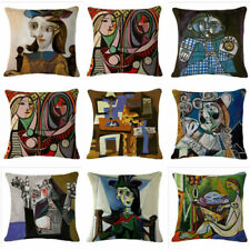 Abstract painting Cotton Linen Pillow Cases Sofa Car Throw pillow Cushion Cover