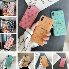 Heart Fruit Pattern Shell Texture IMD Case Cover For iPhone Xs Max X 7 8 Plus 6s