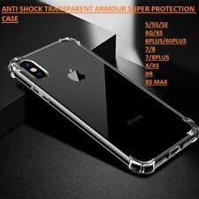 Transparent Anti-Shock Armour Back Cover Phone Case For APPLE iPhone 8 7 6 X