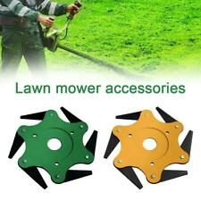 1Pcs Outdoor Trimmer Head 6 Steel Razors 65Mn Lawn Mower Grass Weed Cutter