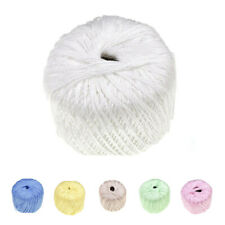 Soft Cotton Cord Line Thread Yarn For Embroidery Crochet Sewing Knitting Lace S1