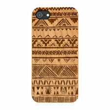 Aztec Pattern Natural Real Wooden Phone Case IPHONE SAMSUNG HUAWEI PIXEL