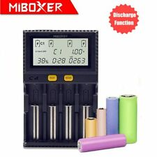 Miboxer C4 Battery Charger LCD Screen for AA AAA 18650 20700 26650 RCR123 + MORE