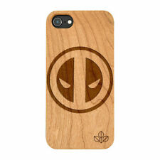 Deadpool Natural Real Wooden Phone Case IPHONE SAMSUNG HUAWEI PIXEL