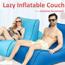 Inflatable Air Sofa Bed Lazy Sleeping Camping Bag Beach Hangout Couch
