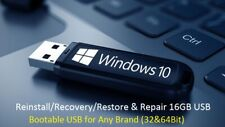 Windows 10 Pro 32/64Bit Install & System Recovery Tools on USB or Disk latest!!