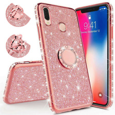 Glitter Ring Holder Soft Case Cover For Xiaomi Mi A2 8 Lite 6X Redmi 6A Note 5 6