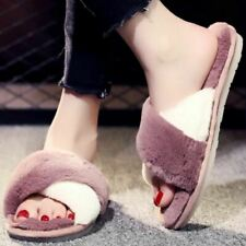 Winter Fluffy Slippers Fur House Slippers Home Indoor Shoes Warm Ladies Slides F