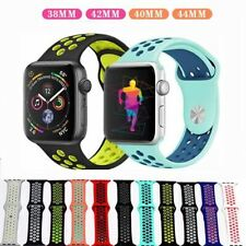 Silicone pulseira For apple watch band 4 44mm 40mm iwatch strap 3 2 1 42mm 38mm