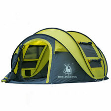outdoor automatic throwing pop up waterproof camping hiking 4 person large tent