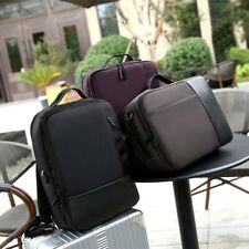Anti-theft Men's USB with Charger Port Backpack Laptop Notebook Travel Bag