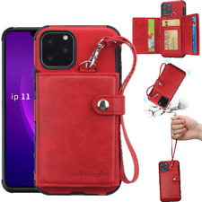 For iPhone 11 Pro Max XS 8 7 Plus 6s Luxury Leather Wallet Card Slot Case Cover