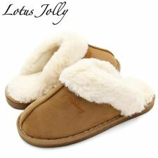 Women Fur Slippers Winter Warm Shoes Women Suede Plush House Slippers Indoor Out