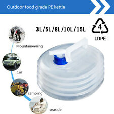 Outdoor Camping Hiking Water Bag PE Foldable Water Carrier Container Bottle