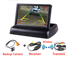 4.3 Inch TFT LCD Car Foldable Monitor Display Reverse Camera Parking System