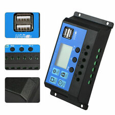 Solar Charger Controller PWM Dual USB Battery Charge Regulator Panel 12/24V USB