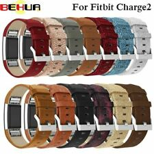 Replacement For Fitbit Charge 2 Bands Leather Straps Band Interchangeable Smart