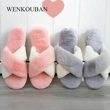 Women Slippers Winter Fuzzy Slides Warm Home Slippers Ladies Indoor House Shoes