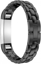 For Fitbit Alta HR Strap, Band, AISPORTS Stainless Steel Scale Design Smart Watc