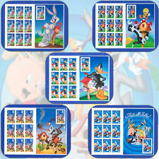 10 LOONEY TUNES CARTOONS STAMPS: Cartoon Characters, Stamp Collecting or Postage