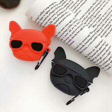 For AirPods Pro Silicone bulldog Wireless Bluetooth Earphone Case charging box