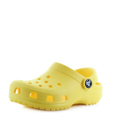 Kids Crocs Classic Lemon Yellow Boys Girls Mule Clogs Sandals UK Size