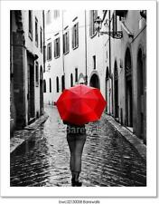 OVERSIZE 48x32 PHOTO ART PRINT Red Rain by Stefano Corso Umbrella Huge Poster