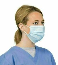 100PCS Disposable Face Mask Medical Surgical Dental By Alvira Lifecare & Hygeine