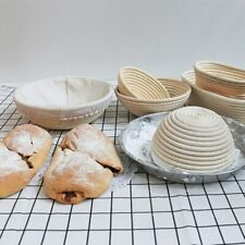YOMDID Natural Rattan Bread Storage Basket Round Oval Baguette French Bread