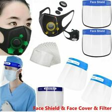 Full Face Covering Anti-Fog Shield Clear Glasses &Face Cover Face Mouth & Filter