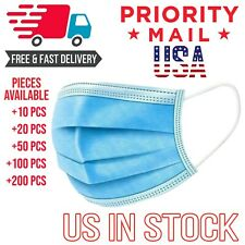 Disposable Mouth Shield Surgical Medical Industrial 3Ply Mouth Cover Blue