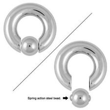 Captive Bead Ring with Spring Action Steel Bead CBR - 8G - 4G