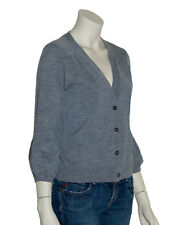 Gilet Cardigan Pull Femme Gris Laine Womens Sweater Taille S M L (P0002G) Neuf