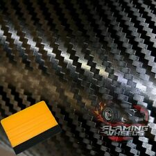 3D BLACK BUBBLE FREE CARBON FIBRE VINYL ROLL WRAP CAR BIKE VAN STICKER AIR DRAIN
