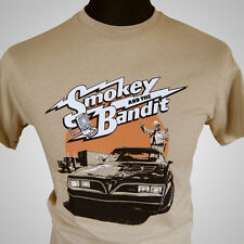 Smokey and The Bandit Movie Themed Retro T Shirt Burt Trans Am 70's Tan