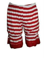 NEW RED & WHITE STRIPE GIRL SHORT BLOOMERS PANTS SHORTS FANCY DRESS OUTFIT